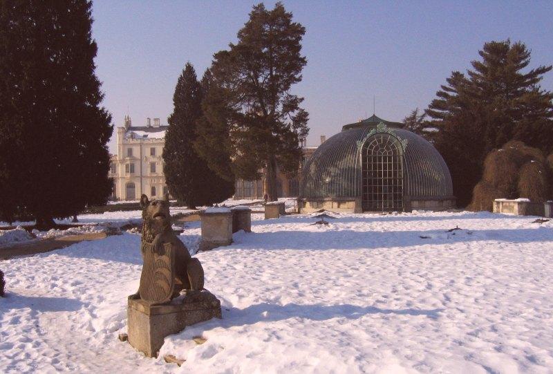 Lednice Schloss Glashaus