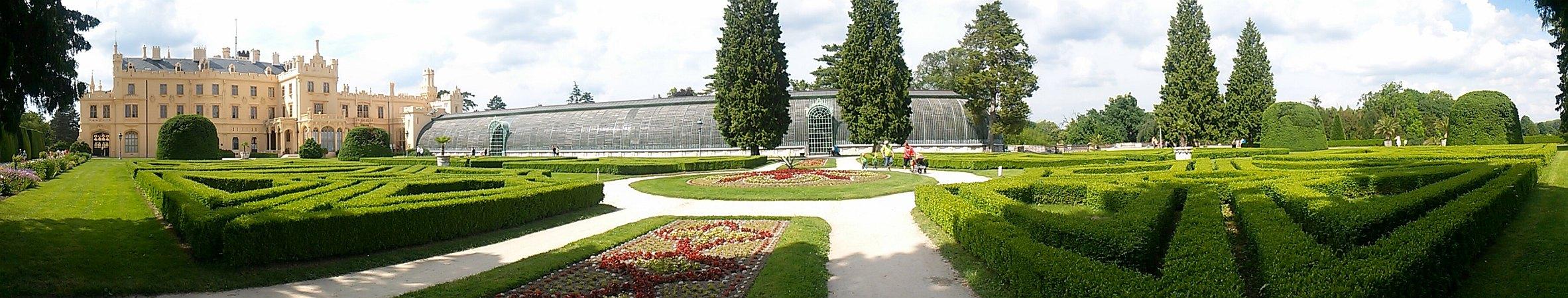 Lednice Schloss Panorama